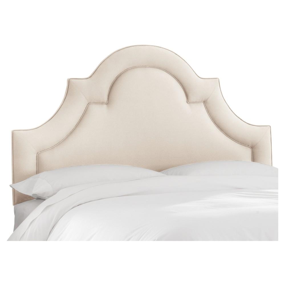 Skyline Arched Border Headboard - California King - Skyline Furniture, Linen Talc