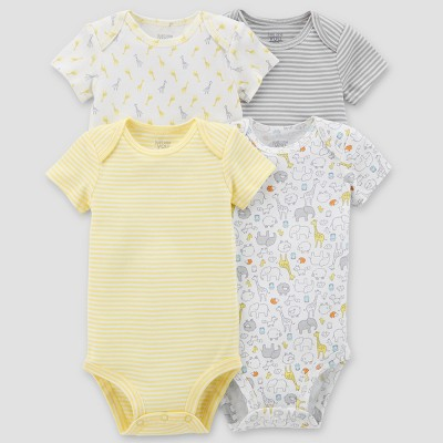 Baby 4pk Bodysuit Set - Just One You® made by carter's Yellow Newborn