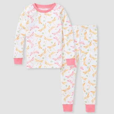 Burt's Bees Baby® Toddler Girls' 2pc Dragonfly Pajama Set - Pink