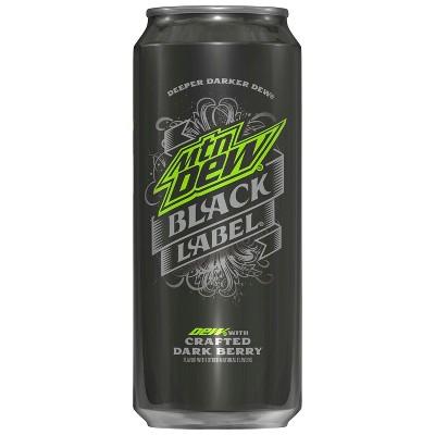 Soft Drinks: Mountain Dew Black Label