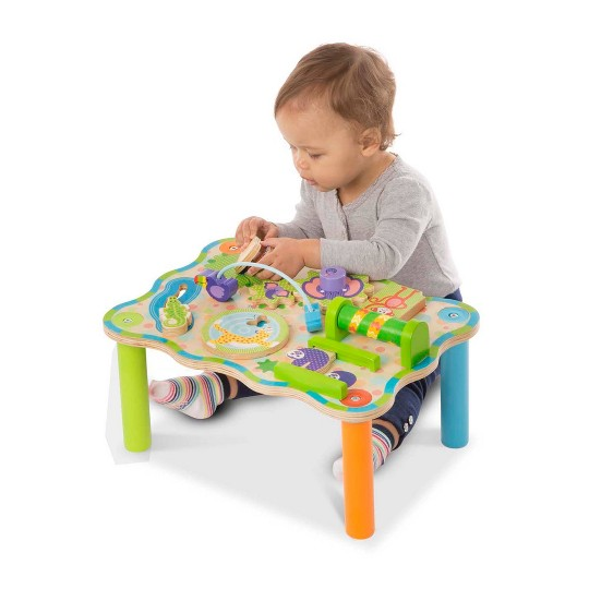Melissa & Doug First Play Childrens Jungle Wooden Activity Table for Toddlers image number null