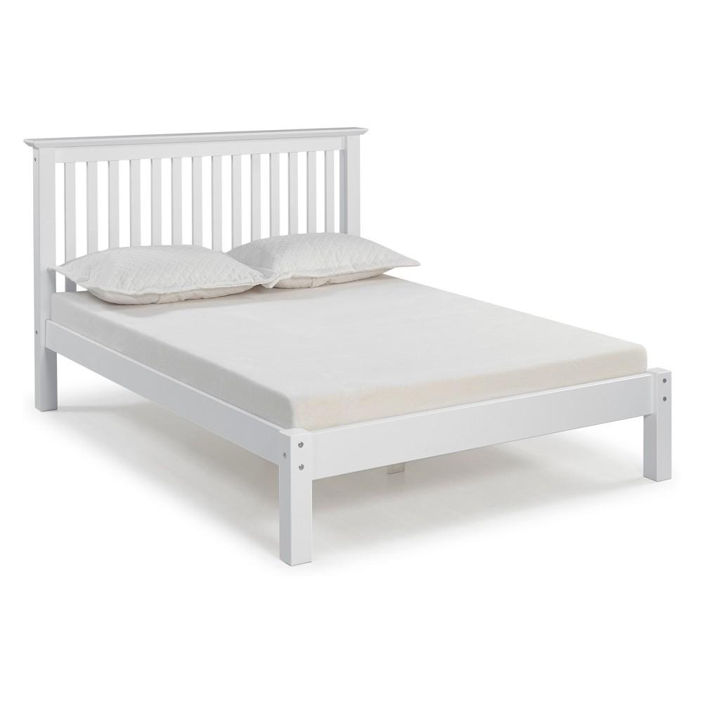 Barcelona Full Bed White - Bolton Furniture