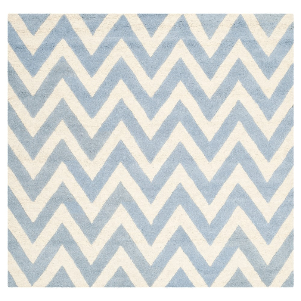 Dalton Textured Rug - Light Blue / Ivory (8' X 8' Square) - Safavieh, Light Blue/Ivory