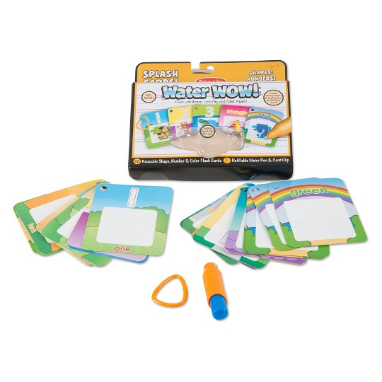 Melissa & Doug On the Go Water Wow Splash Cards, 2-Pack - Alphabet and Numbers and Colors image number null