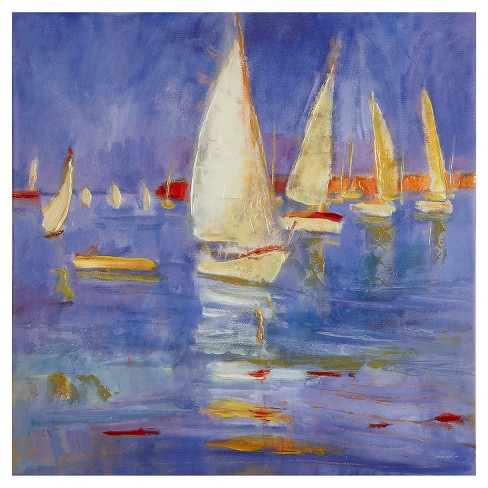 Sailing in Color Hand Embellished Canvas - image 1 of 4