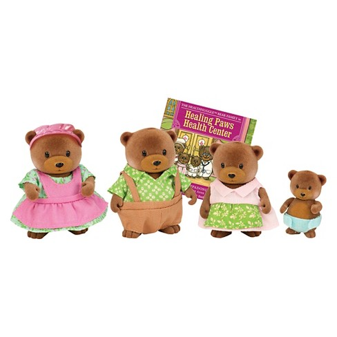 Li'l Woodzeez Miniature Animal Figurine Set - Healthnuggle Bear Family - image 1 of 4