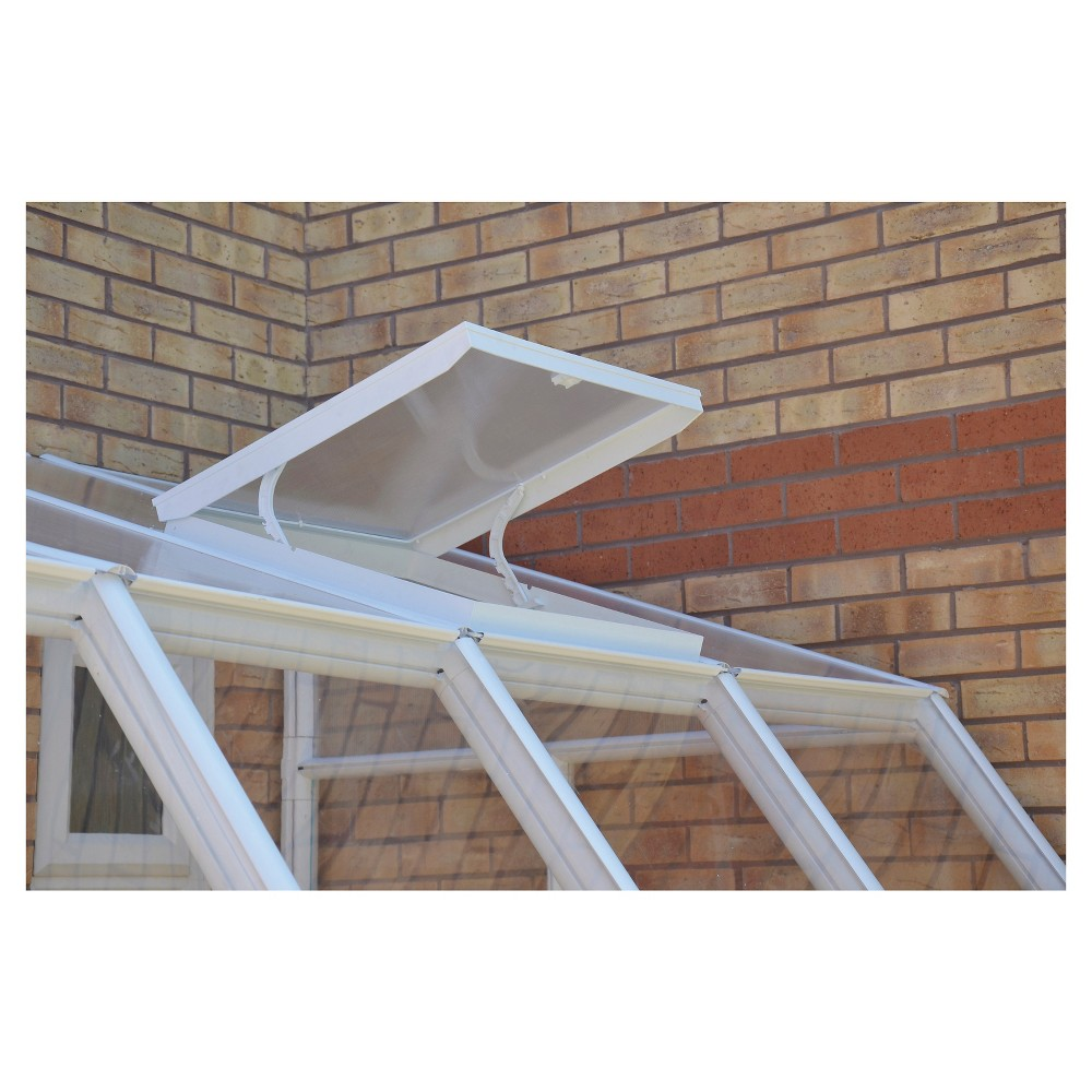 Image of Roof Vent Kit For Sun Room And Greenhouse - White - Rion