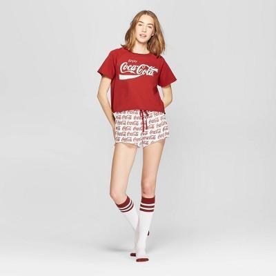 Women's Coca-Cola Pajama Set with Socks - Red XL