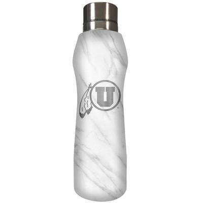 NCAA Utah Utes 20oz Marble Curve Stainless Steel Water Bottle