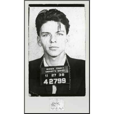 Art.com - Frank Sinatra Mugshot Mounted Print