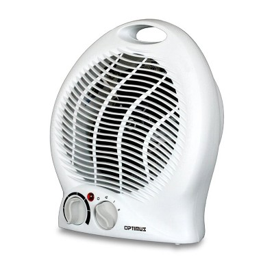 Optimus H-1322 Portable Room 2 Speed Fan Personal Space Heater with Automatic Temperature Control for Indoor Home Space Heating