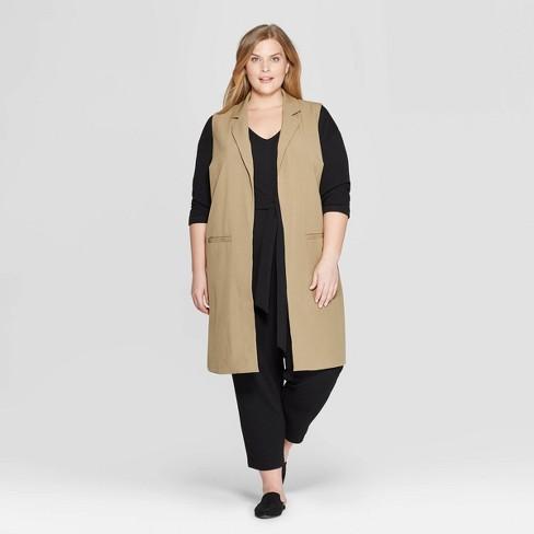 4c3c57b6b5c83d Women s Plus Size Sleeveless Open-Front Longline Vest - Prologue™ Black.  Shop all Prologue