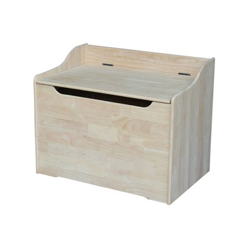Kids' Storage Box Bleached Wood - International Concepts - image 1 of 4