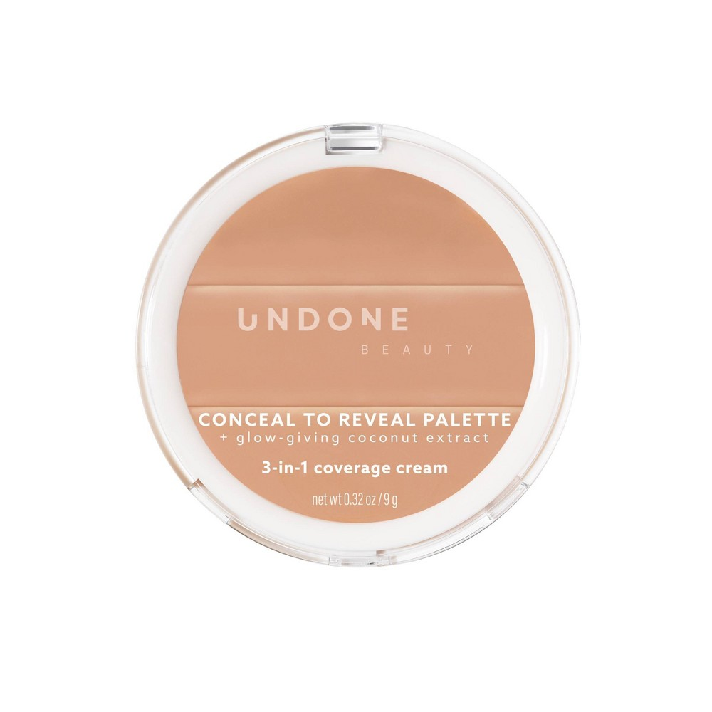 Image of UNDONE BEAUTY Conceal To Reveal 3-in-1 Concealer Palette - Latte Medium - 0.32oz