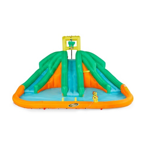 Kahuna 90732 Triple Monster Inflatable Backyard Outdoor Kid Water Slide Park - image 1 of 5