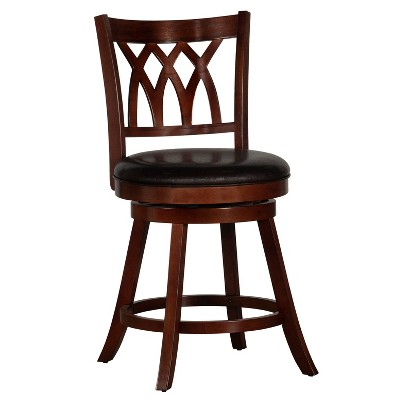 """Tateswood Swivel 25.75"""" Counter Height Barstool Wood Composite/Cherry - Hillsdale Furniture"""