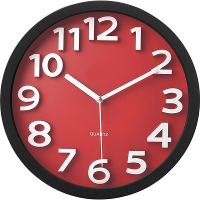 TEMPUS Wall Clock, with Raised Numerals and TC62127R