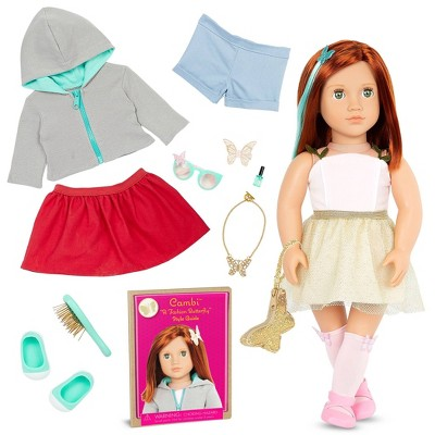 """Our Generation Fashion Starter Kit in Gift Box Cambi with Mix & Match Outfits & Accessories 18"""" Fashion Doll"""