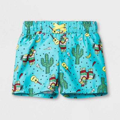 Baby Boys' Cactus Swim Trunks - Cat & Jack™ Aqua 9M