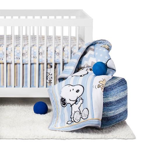 170eab63ead1 Peanuts 4-Piece Crib Bedding Set - My Little Snoopy