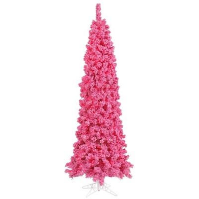 Vickerman Flocked Pink Fir Artificial Christmas Tree