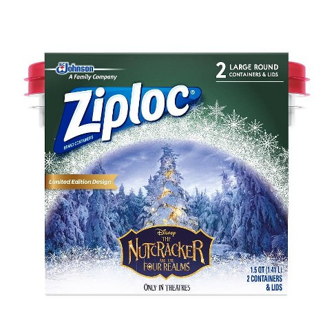 Ziploc Holiday 2ct Large Round Printed Container - image 1 of 1