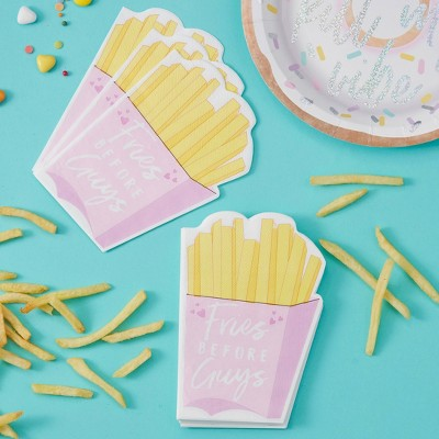 """Fries Over Guys"" Disposable Napkins"