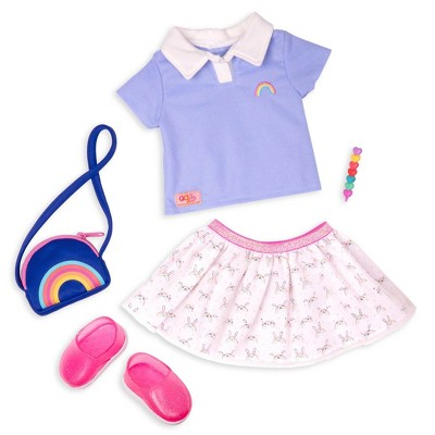 """Our Generation School Uniform Outfit for 18"""" Dolls - Rainbow Academy"""