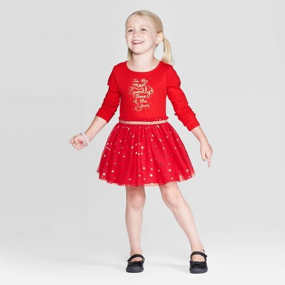 Toddler Girls' Long Sleeve T-Shirt Tulle