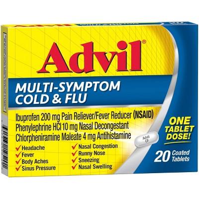 Advil Multi-Symptom Cold & Flu Coated (NSAID) Tablet - 20ct