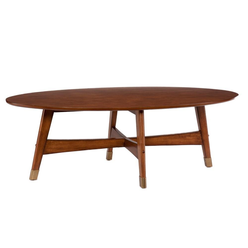 Rafael Oval Coffee Table Brown - Aiden Lane