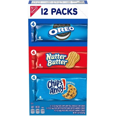 Nabisco Snack Pack Variety Cookies Mix With Oreo, Chips Ahoy! & Nutter Butter - 23.4oz/12ct