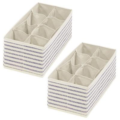 mDesign Fabric Child/Kids Dresser, Nursery Storage Bin, 2 Pack