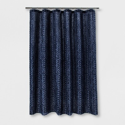 Woven Shower Curtain Painterly Blue - Project 62™