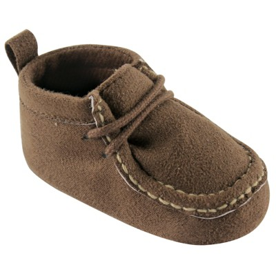 Luvable Friends Baby Boy Crib Shoes, Brown Wallabee
