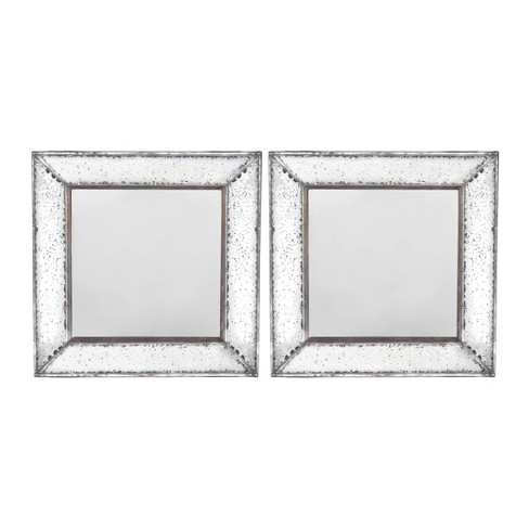 (Set of 2) Square Mirrors Clear - A&B Home - image 1 of 1