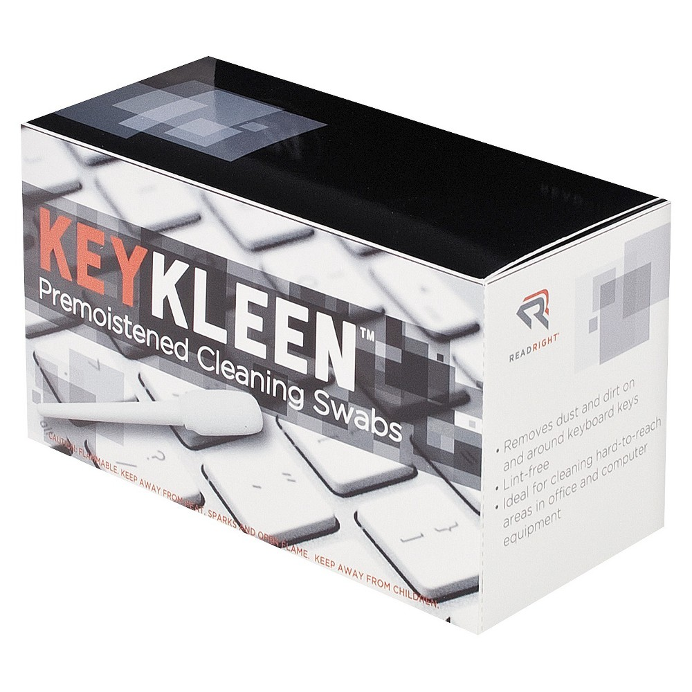 Image of Read Right KeyKleen Premoistened Cleaning Swabs, 24/Box