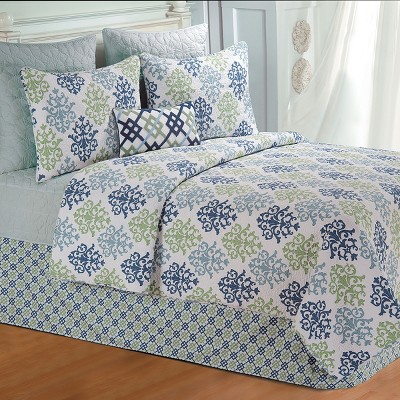 C&F Home Shabby Chic Blue Quilt