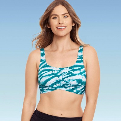 Women's Slimming Control Wrap-Front Bikini Top - Beach Betty by Miracle Brands