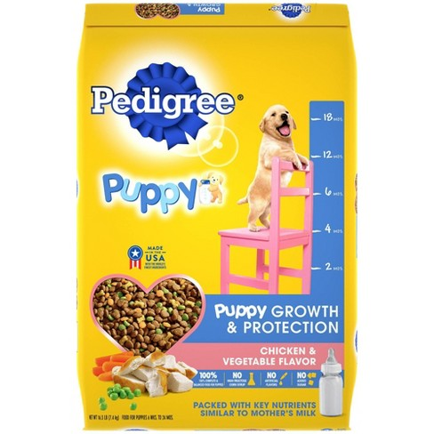 Pedigree Chicken & Vegetable Flavor Puppy Growth & Protection Complete & Balanced Dry Dog Food - image 1 of 4