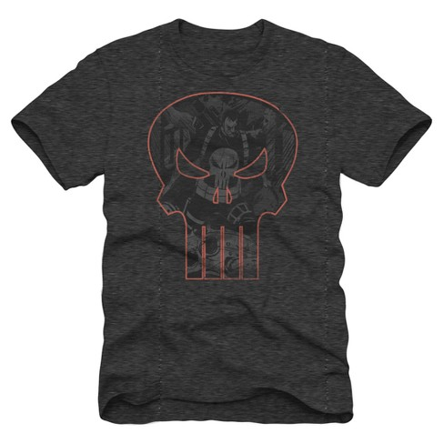 Men's Punisher Logo Graphic T-Shirt - Charcoal Heather - image 1 of 1