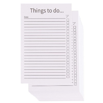 Paper Junkie 200-Pack White Things To Do List Index Cards, Checklist Vertical Cardstock Paper, 3.2 x 5.1 in