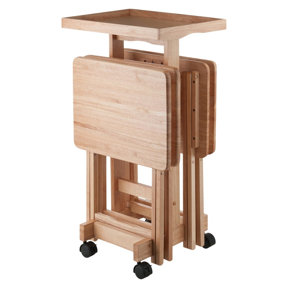 6pc Snack Table Set - Natural - Winsome