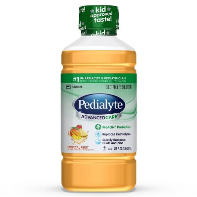 Pedialyte AdvancedCare Electrolyte Solution - Tropical Fruit - 33.8 fl oz