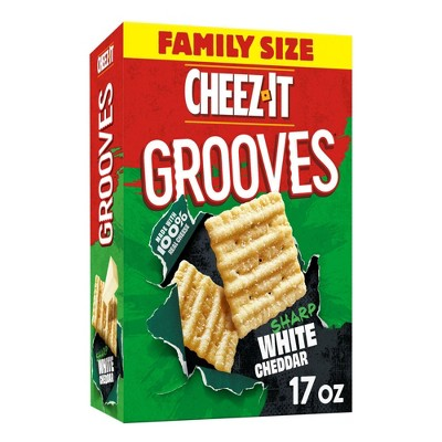 Cheez-It Grooves White Cheddar Family Size - 17oz