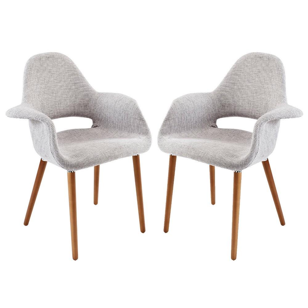 Aegis Dining Armchair Set of 2 Black - Modway, Light Gray