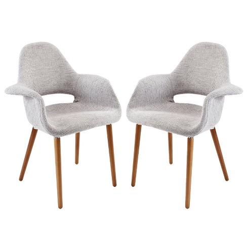 Aegis Dining Armchair Set Of 2 Black Modway Target