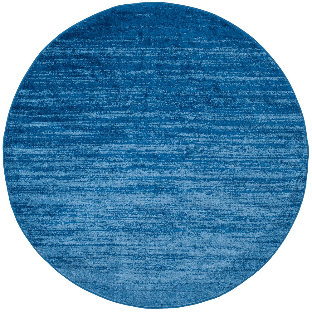 Ombre Design Round Area Rug Light Blue/Dark Blue