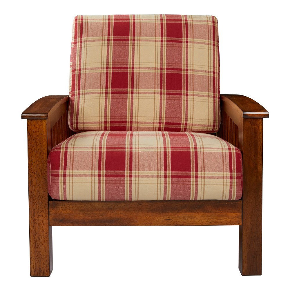 Maison Hill Mission Style Arm Chair - Red - Handy Living