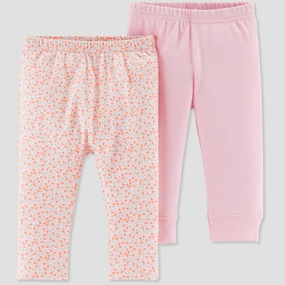Baby Girls' 2pk Multi Dot Pants - Little Planet by Carter's Pink 3M
